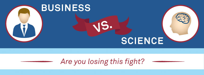 Business vs Science Infographic