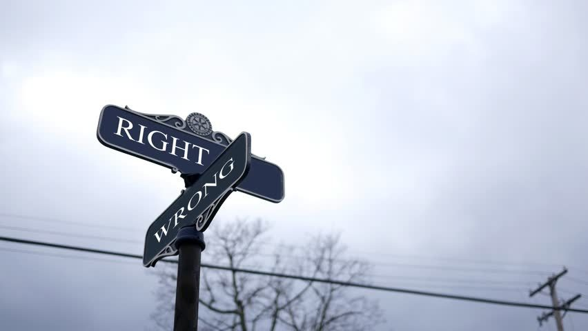 right and wrong
